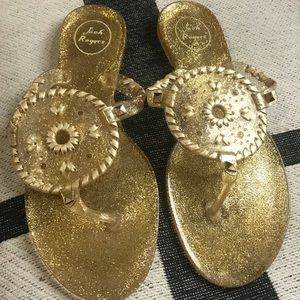 Jack Rogers Gold Sandals Size 9